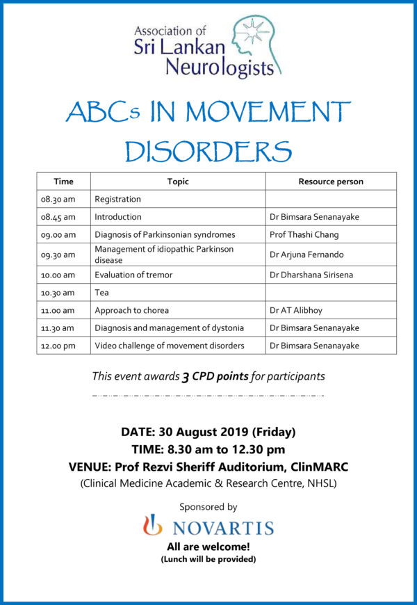 ABC Movement disorders poster